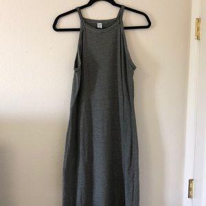 Old Navy Size L Green Striped Tank Dress